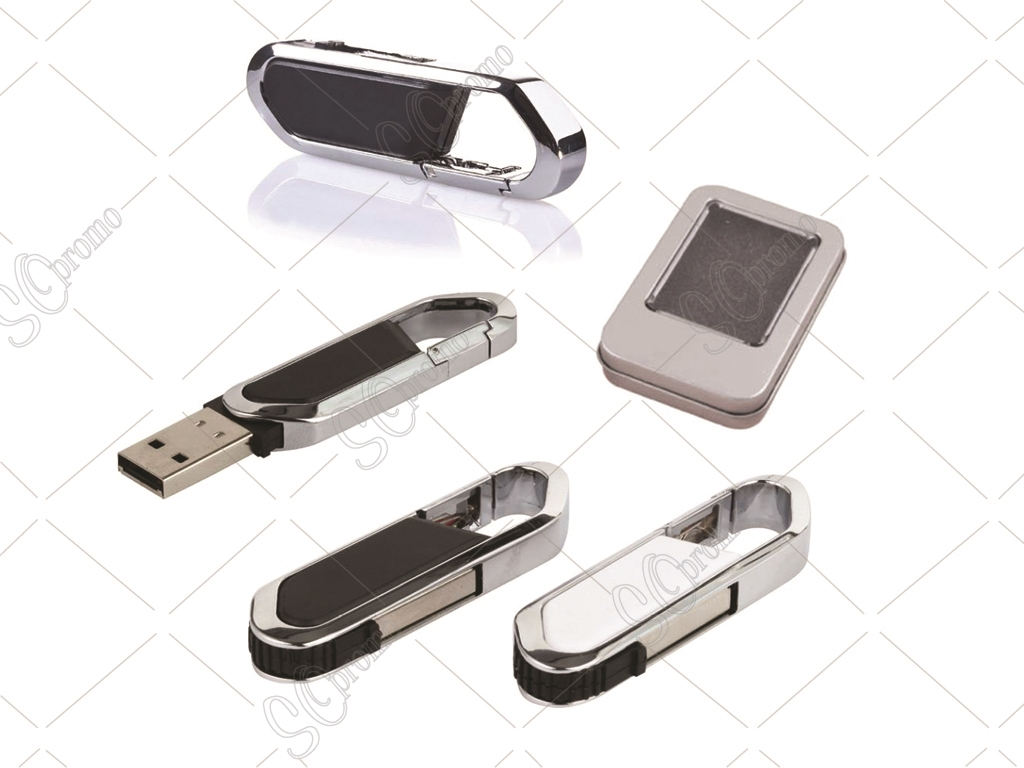 Metal & Plastic Keychain Usb Flash