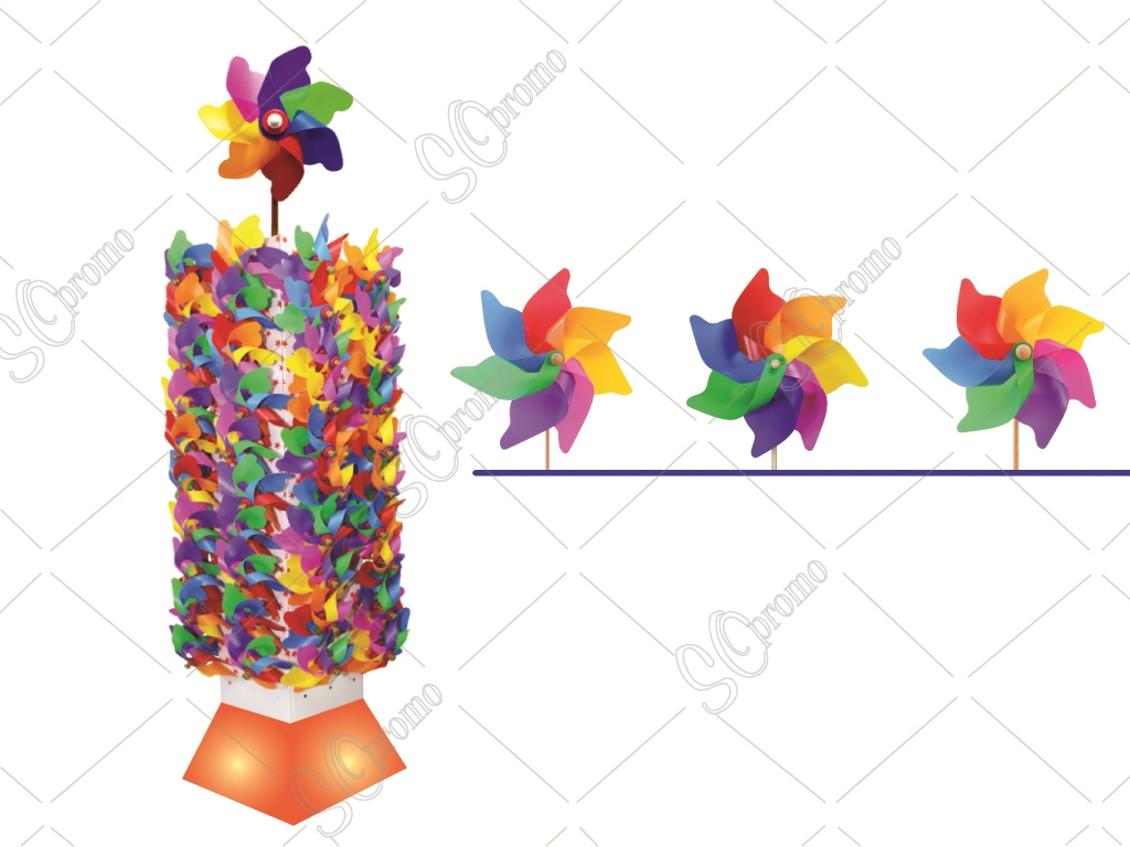 Winged Rainbow Model Pinwheel With Tower Stand