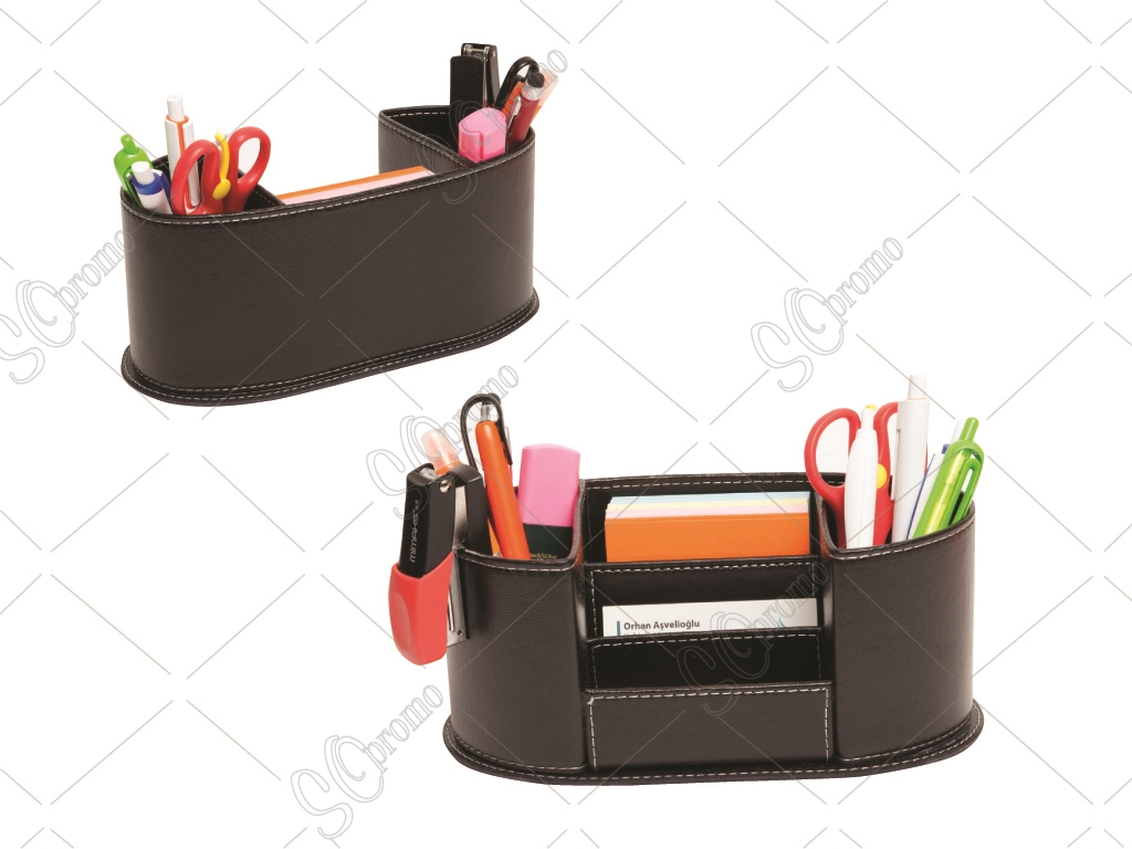 Leather Penholder With Cover